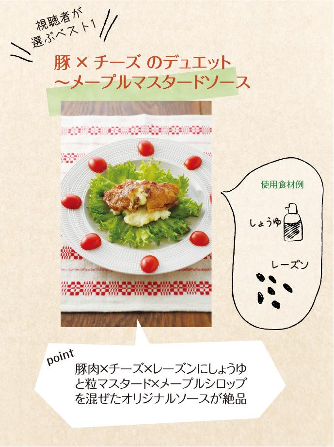 豚×チーズのデュエット〜メープルマスタードソース